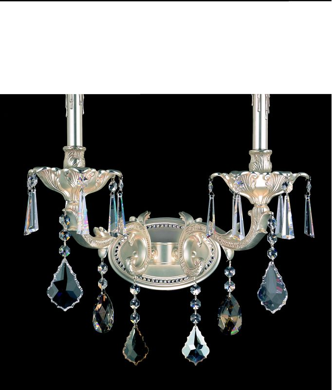 Allegri 10472 Marcello 2 Light Wall Sconce Antique Silver with