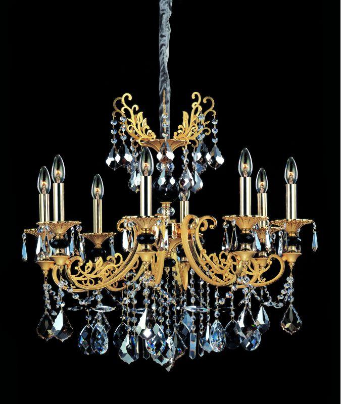 Allegri 10538 Bellini 8 Light Single Tier Chandelier Two-Tone Gold /