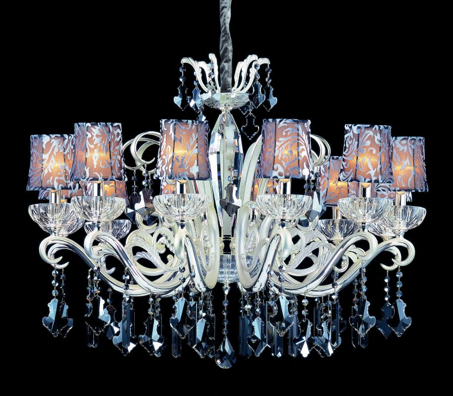 Allegri 10628 Britten 12 Light Single Tier Chandelier Two-Tone Silver Sale $6980.00 ITEM: bci2254651 ID#:10628-017-FR006-SA101 UPC: 720062019771 :