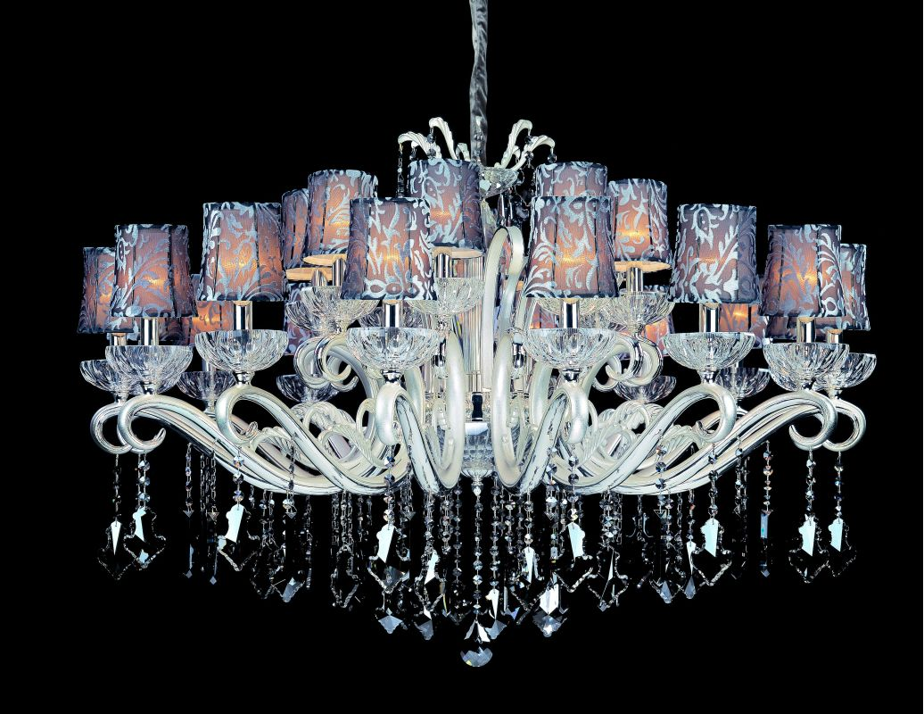 Allegri 10629 Britten 24 Light Two Tier Chandelier Two-Tone Silver / Sale $11880.00 ITEM: bci2254652 ID#:10629-017-FR006-SA101 UPC: 720062019801 :