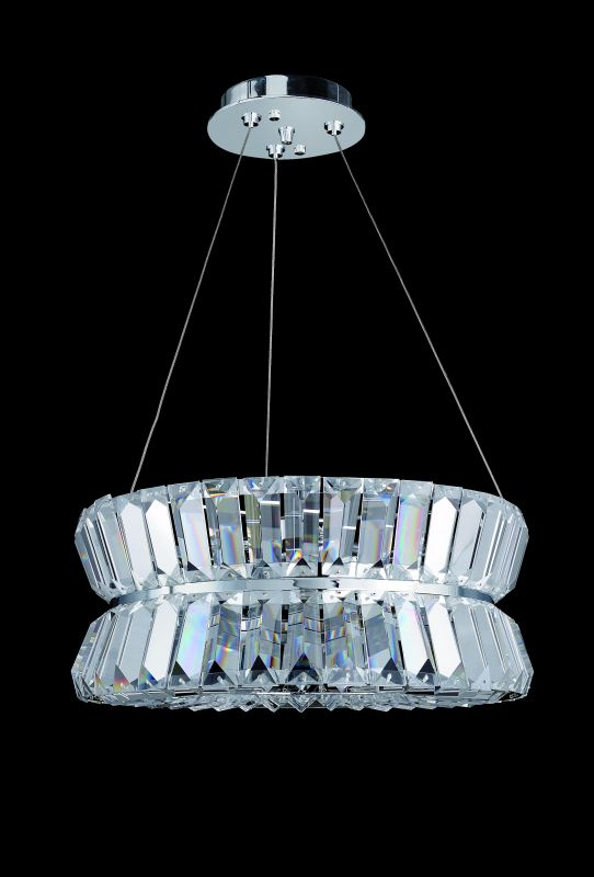 Allegri 11275 Armanno 3 Light Pendant Chrome with Clear Crystals