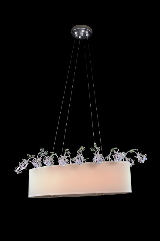 Allegri 11356 Elisha 2 Light Chandelier Sterling with Swarovski