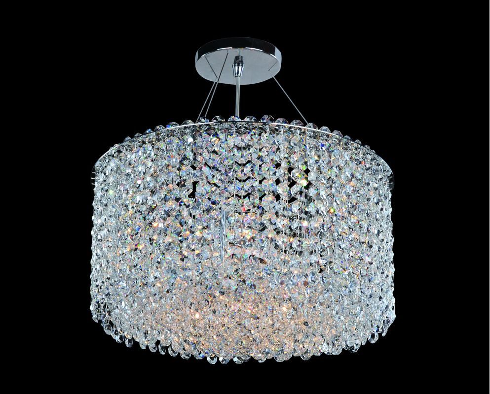 Allegri 11668 Millieu-Metro 6 Light Pendant Chrome with Clear Crystals