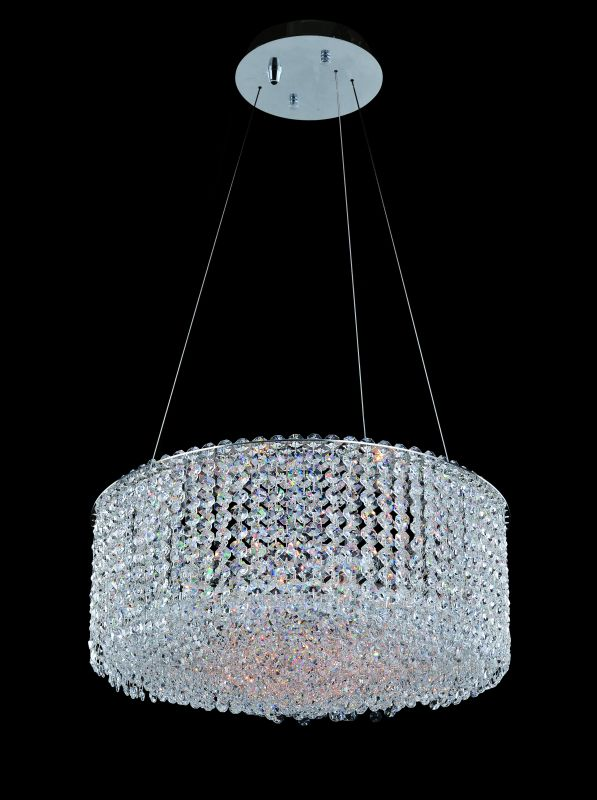 Allegri 11669 Millieu-Metro 8 Light Pendant Chrome with Clear Crystals