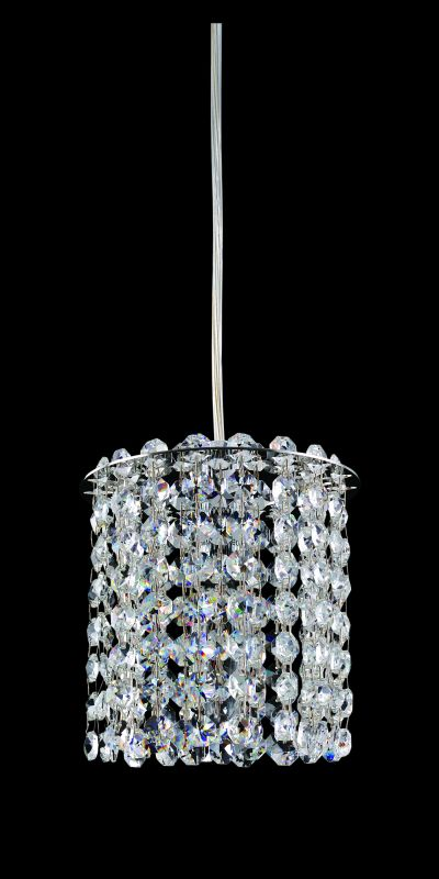 Allegri 11760 Millieu 1 Light Mini Pendant Chrome with Clear Crystals