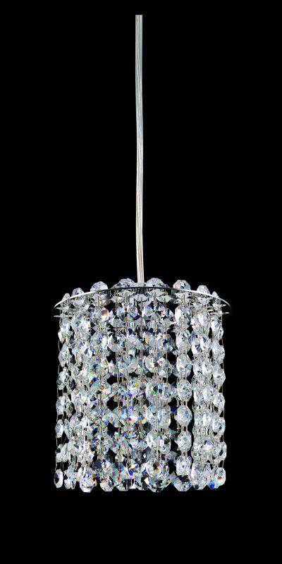 Allegri 11760 Millieu 1 Light Mini Pendant Chrome with Clear Crystals