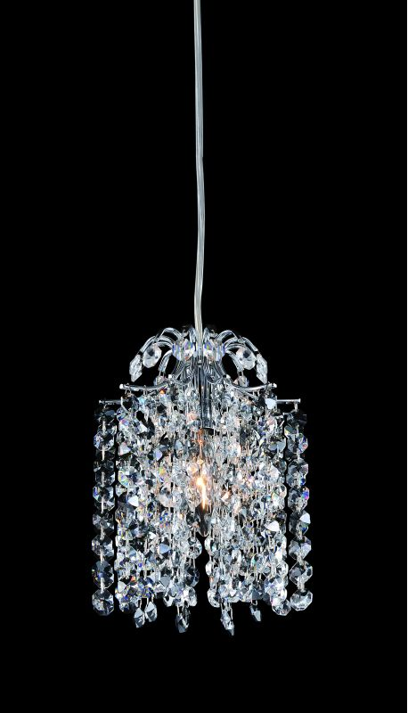 Allegri 11761 Millieu 1 Light Mini Pendant Chrome with Clear Crystals