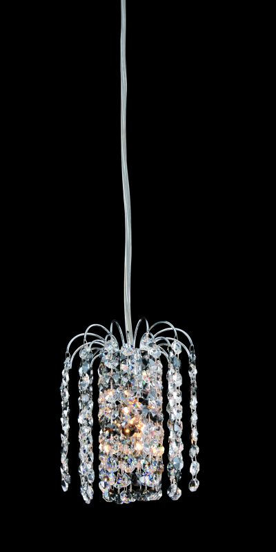 Allegri 11762 Millieu 1 Light Mini Pendant Chrome with Clear Crystals
