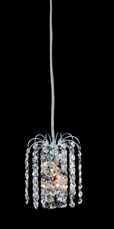 Allegri 11762 Millieu 1 Light Mini Pendant Chrome with Clear Crystals