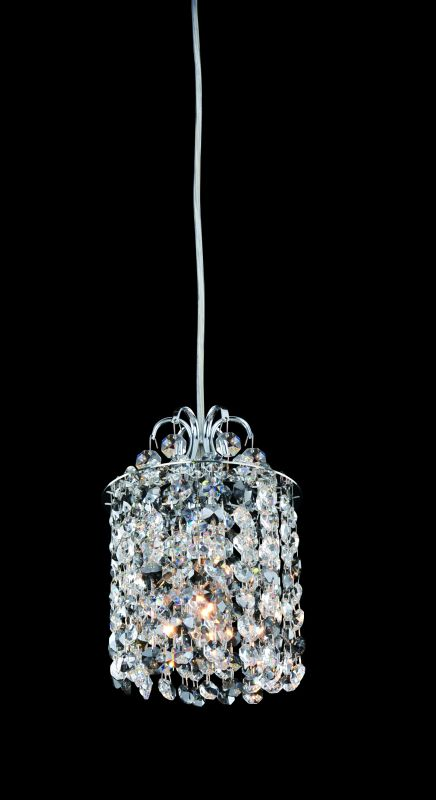 Allegri 11763 Millieu 1 Light Mini Pendant Chrome with Clear Crystals