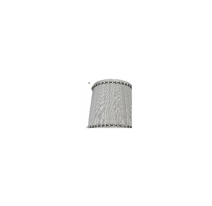 Allegri SA111 Bundle of Six Accessory Fabric Candelabra Shades Gray
