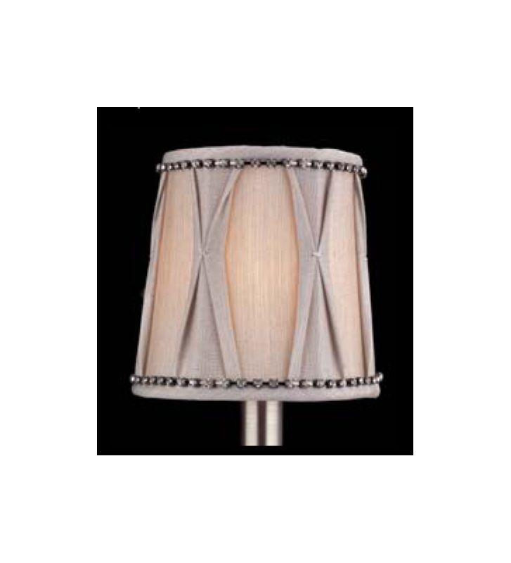 Allegri SA112 Bundle of Six Accessory Fabric Candelabra Shades N/A