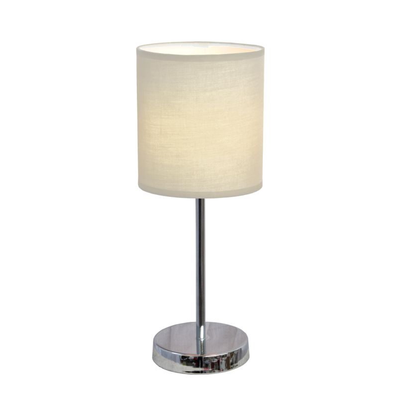 All the Rages LT2007 Simple Designs Single Light 12 Inch Table Lamp