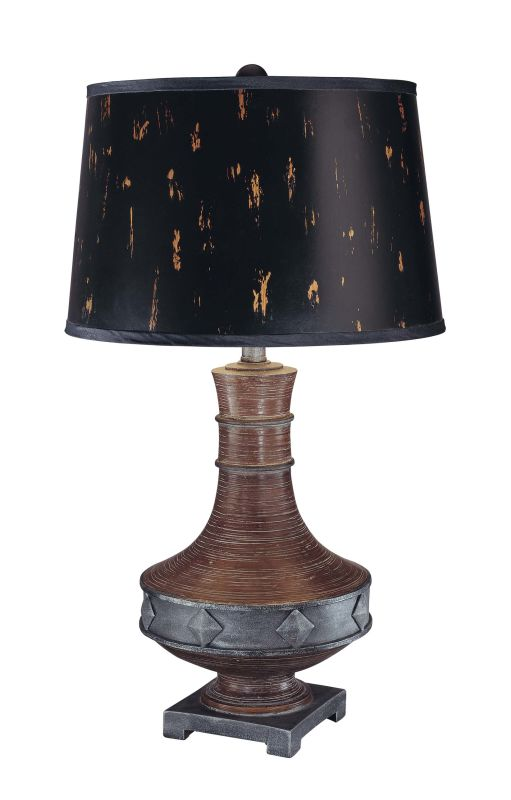 "Ambience 10318 1 Light 28.75"" Height Table Lamp with Black Shade Dark"