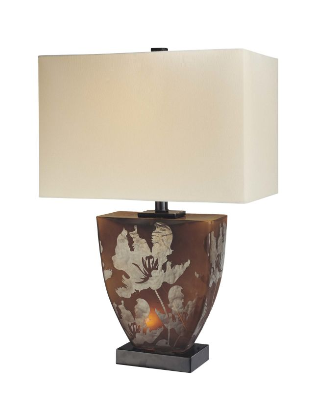 """Ambience 10858 2 Light 23.5"""" Height Table Lamp Amber Lamps"""