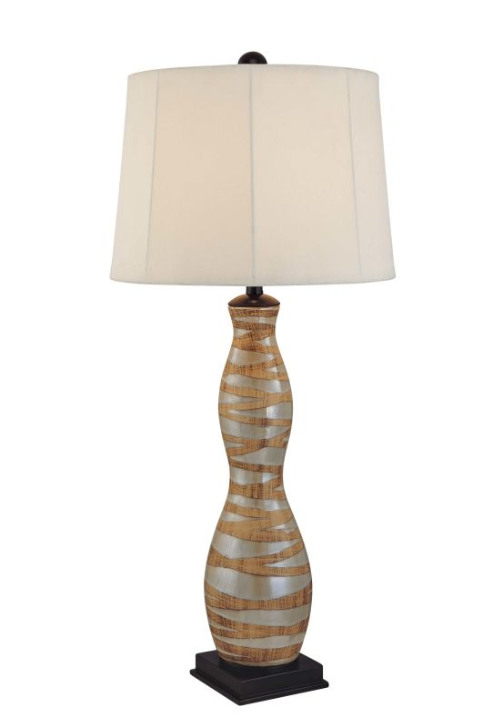 "Ambience 10877 1 Light 36"" Height Table Lamp Brown Multicolor Lamps"