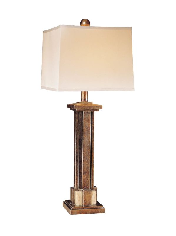 base cabinet ambience 10937 mottled silver 1 light table lamp from the 10937