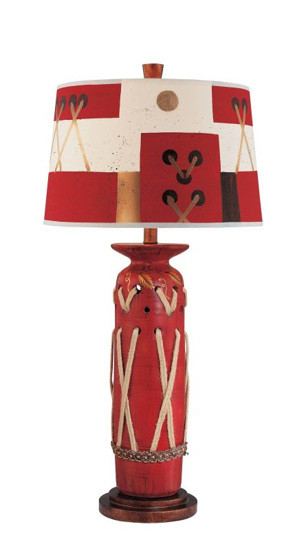 "Ambience 10999 1 Light 33"" Height Table Lamp Red Multicolor Lamps"