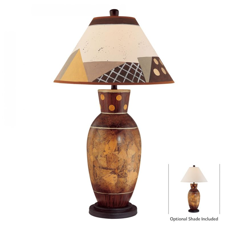 """Ambience 11000 1 Light 34"""" Height Table Lamp Brown Multicolor Lamps"""