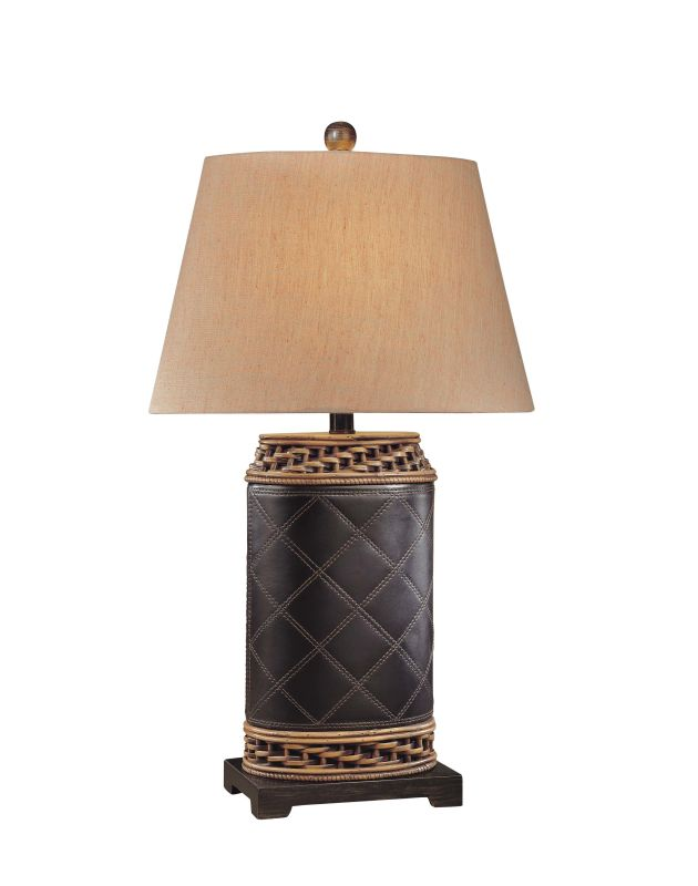 "Ambience AM 12180 1 Light 30"" Height Table Lamp with Cream Empire"