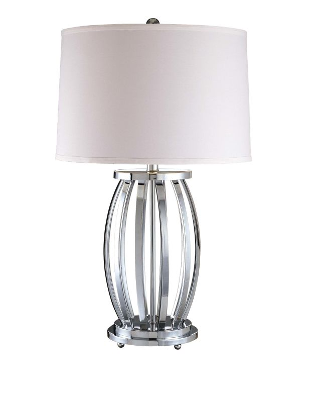 "Ambience AM 12219 1 Light 27.75"" Height Table Lamp with Cream Tapered"