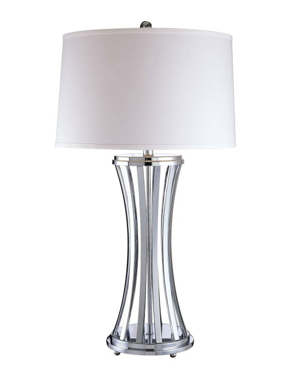 "Ambience AM 12220 1 Light 32.25"" Height Table Lamp with Cream Drum"