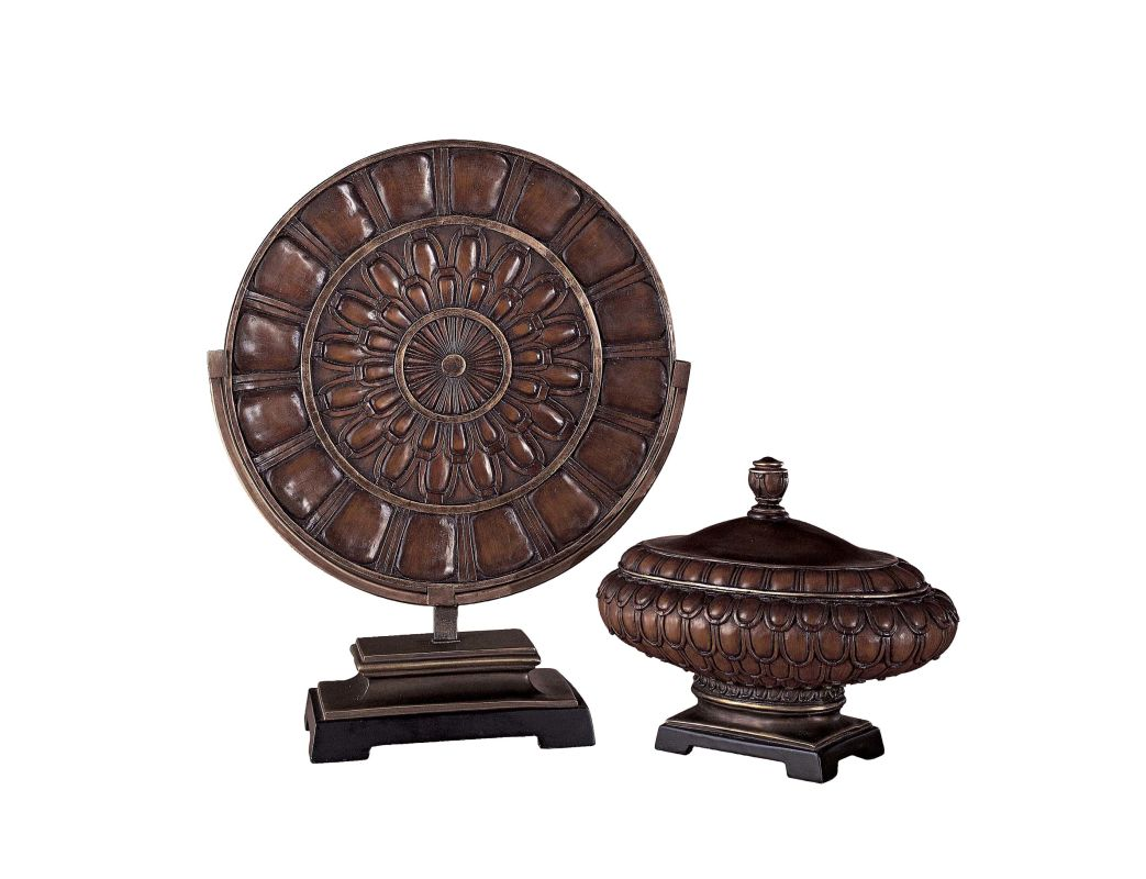 Ambience AM 40833 Traditional/Classic Charger in Rustic Bronze Rustic