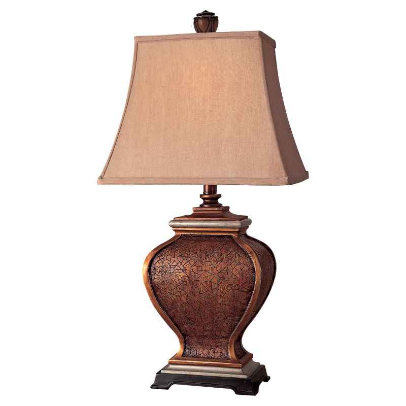 "Ambience AM 10824 1 Light 28"" Height Table Lamp with Tan Pyramid Shade"