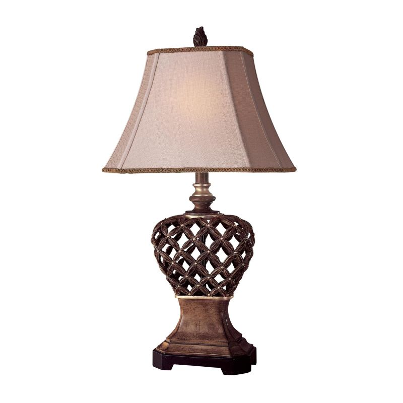 Ambience AM 10821 1 Light 28&quote Height Table Lamp with Cream Pyramid