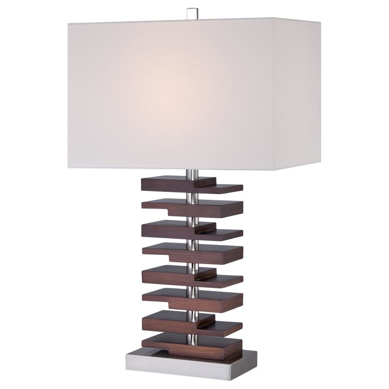 Ambience 12420-0 1 Light Accent Table Lamp Brushed Nickel Lamps Accent