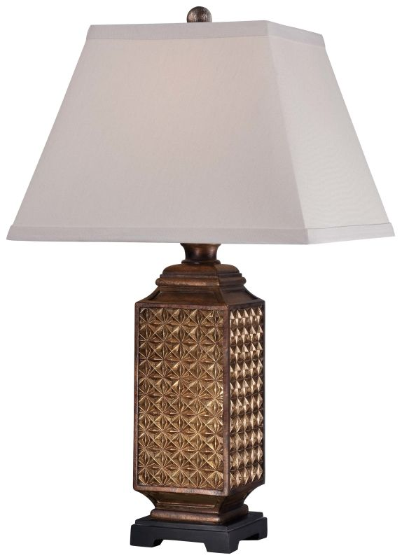 "Ambience 13039-0 1 Light 25.75"" Height Table Lamp Ivory Linen Lamps"