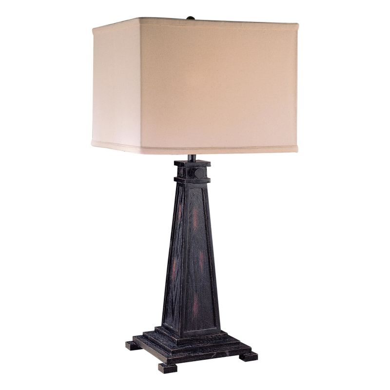 "Ambience AM 10560 1 Light 30"" Height Table Lamp with Cream Square"