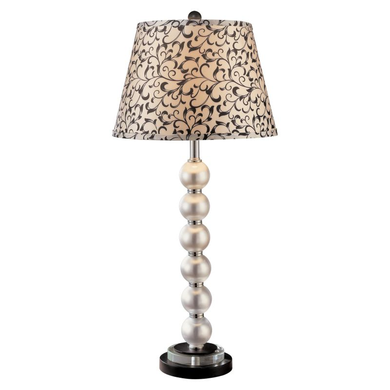 """Ambience AM 12327 1 Light 31"""" Height Table Lamp with Cream / Black"""
