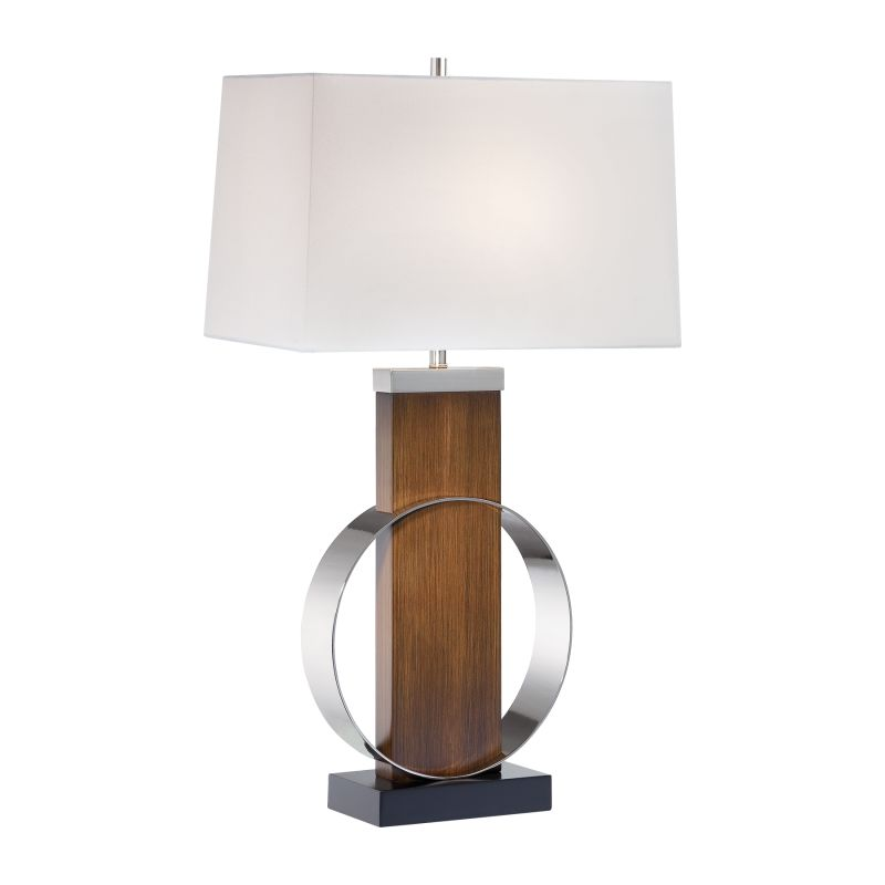 "Ambience AM 10031 1 Light 32"" Height Table Lamp with White Linen Shade"
