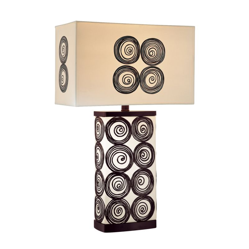 """Ambience AM 10122 1 Light 27.25"""" Height Table Lamp with Cream / Black"""