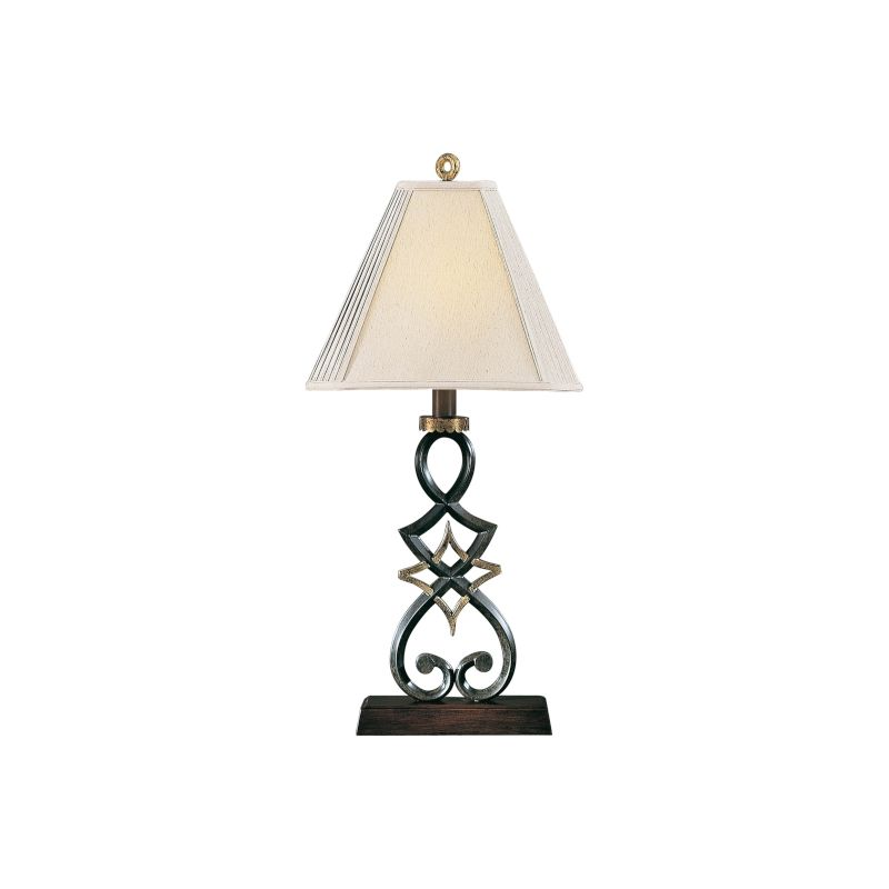 """Ambience AM 10272 1 Light 36"""" Height Table Lamp with Cream Shade Black"""