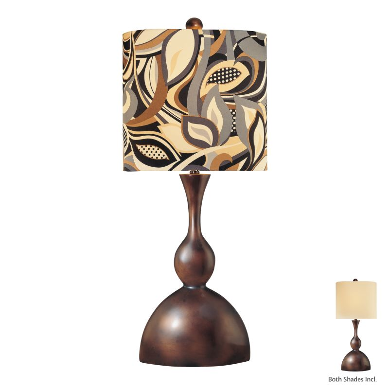 "Ambience AM 10853 1 Light 34"" Height Table Lamp with Multi-Colored"