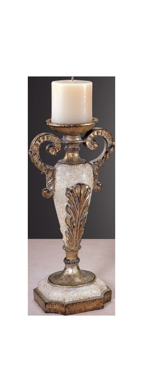 Ambience AM 42305 Victorian Style Candle Holders Finished in White