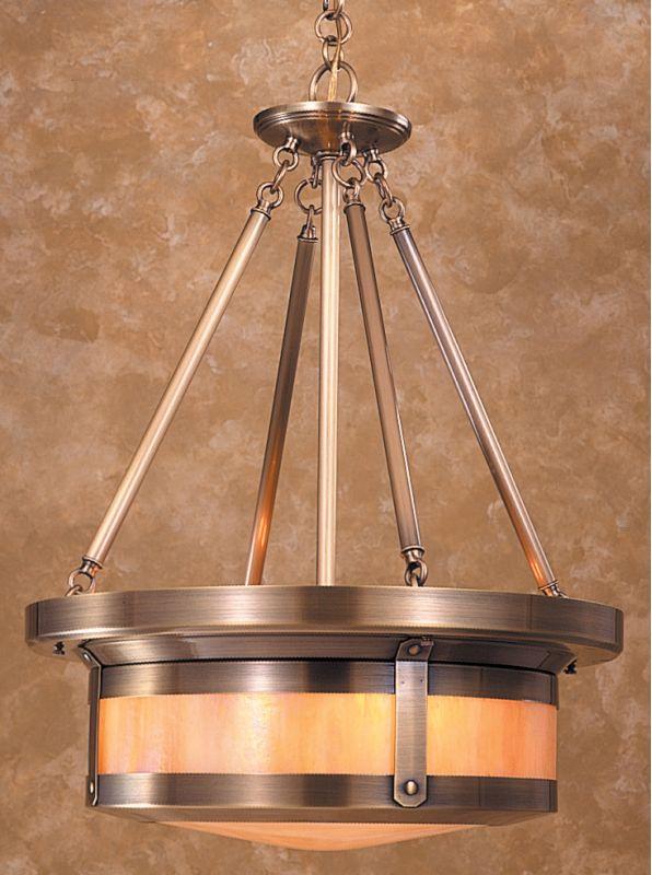 Arroyo Craftsman BCMH-20 Craftsman / Mission Four Light Bowl Pendant
