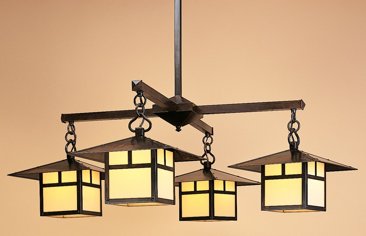 Arroyo Craftsman MCH-12/4 Asian Themed 4 Light Down Lighting Sale $1806.00 ITEM: bci343264 ID#:MCH-12/4-BZ :