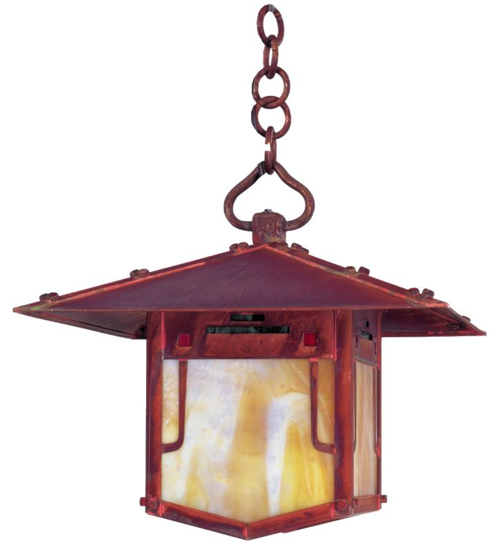 Arroyo Craftsman PDH-12 Asian Themed Single Light Pendant from the