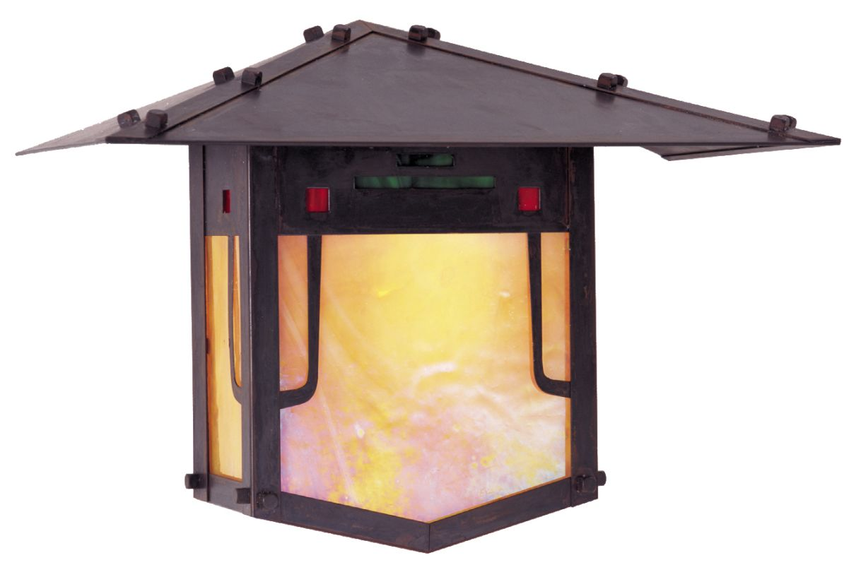 Arroyo Craftsman PDW-12 Asian Themed 1 Light Outdoor Wall Sconce from