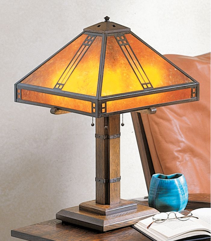 Arroyo Craftsman PTL-15 Craftsman / Mission Table Lamp from the