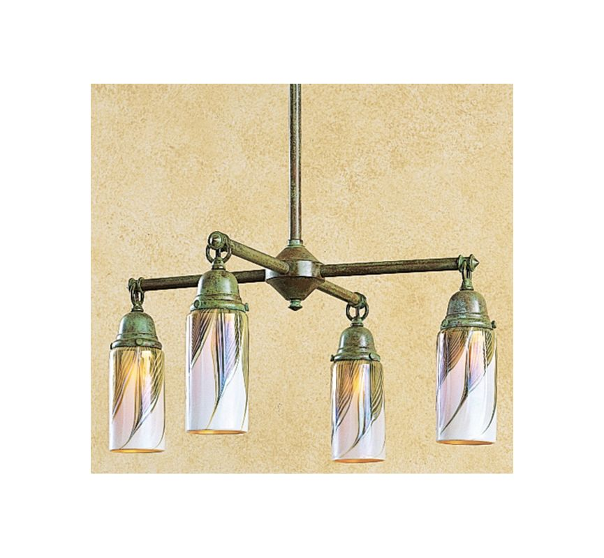 Arroyo Craftsman SCH-4 4 Light Down Lighting Chandelier from the Sale $548.00 ITEM: bci370701 ID#:SCH-4-VP UPC: 753174703276 :
