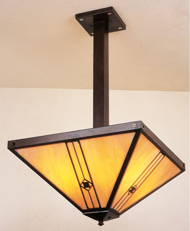 Arroyo Craftsman UCH-16 Craftsman / Mission Four Light Bowl Pendant Sale $796.00 ITEM: bci377011 ID#:UCH-16-BZ :