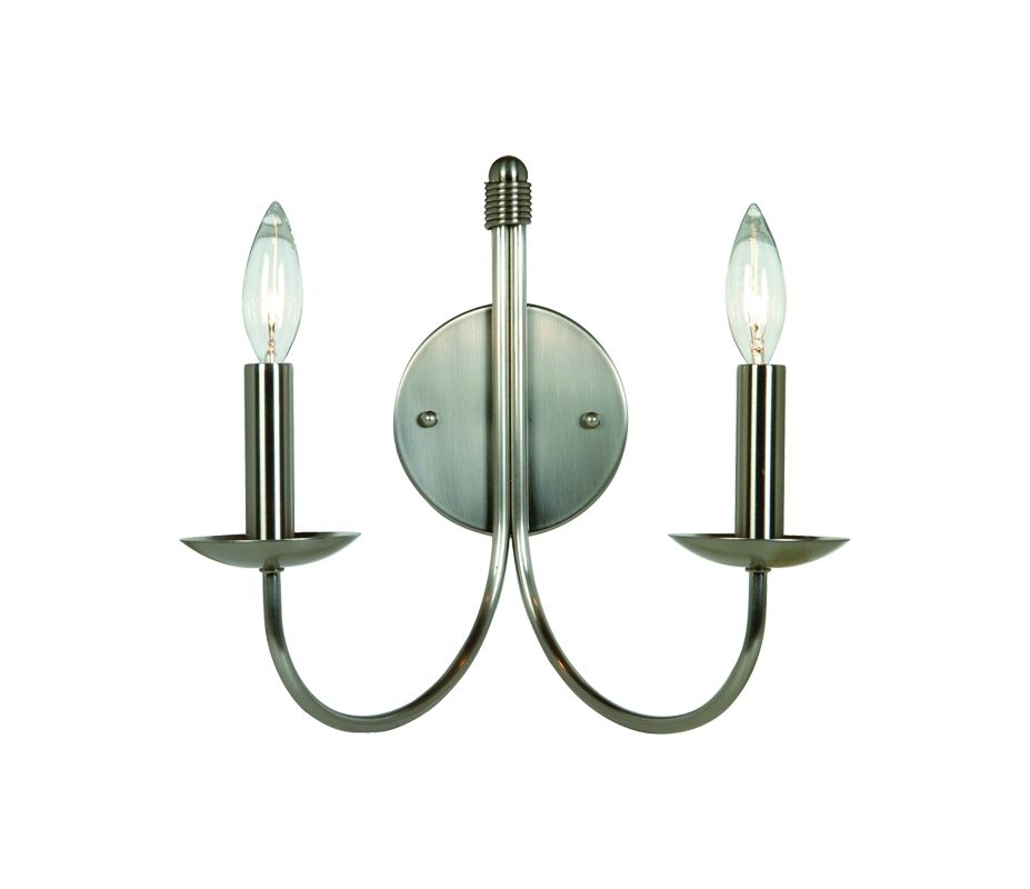Artcraft Lighting AC3782 Pot Racks 2 Light Wall Sconce Stainless Steel