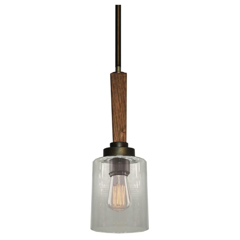 Artcraft Lighting AC10141 Legno Rustico 1 Light Single Pendant
