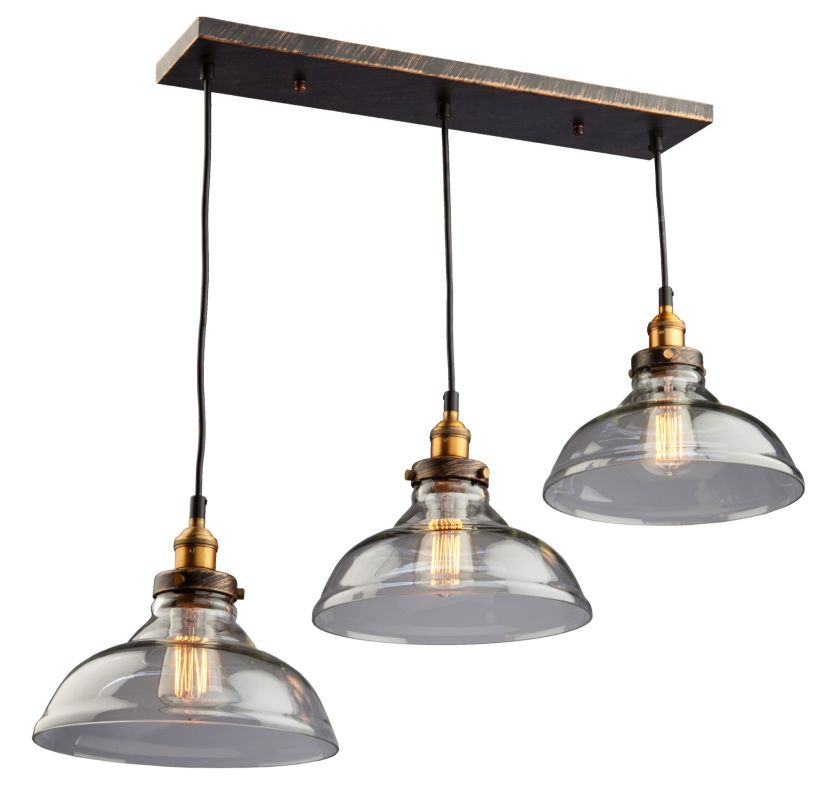 Artcraft Lighting AC10170 Greenwich 3 Light Large Pendant Copper /