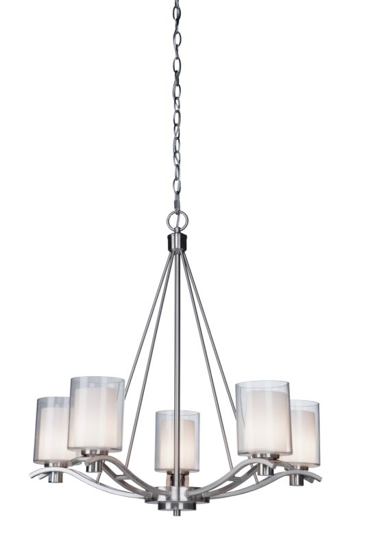 Artcraft Lighting AC1135PN Andover 5 Light Chandelier - 27 Inches Wide