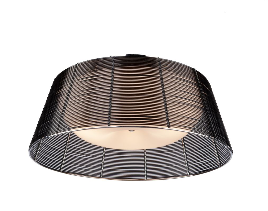 Artcraft Lighting AC314BK San Jose 3 Light Flush Mount Ceiling Fixture